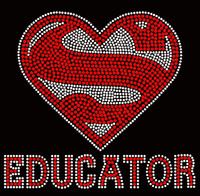 SUPER EDUCATOR School Rhinestone transfer