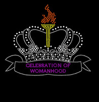 Celebration of Womanhood Crown Rhinestone transfer