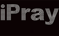 iPray Religious Rhinestone Transfer Iron on
