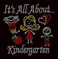 It's All About Kindergarten (4 colors) School Rhinestone Transfer