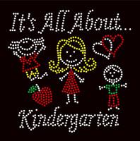 It's All About Kindergarten (4 colors) School Rhinestone Transfer