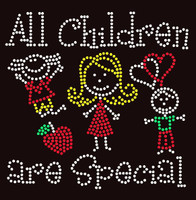 All Children are Special (4 colors) Kids School Rhinestone Transfer