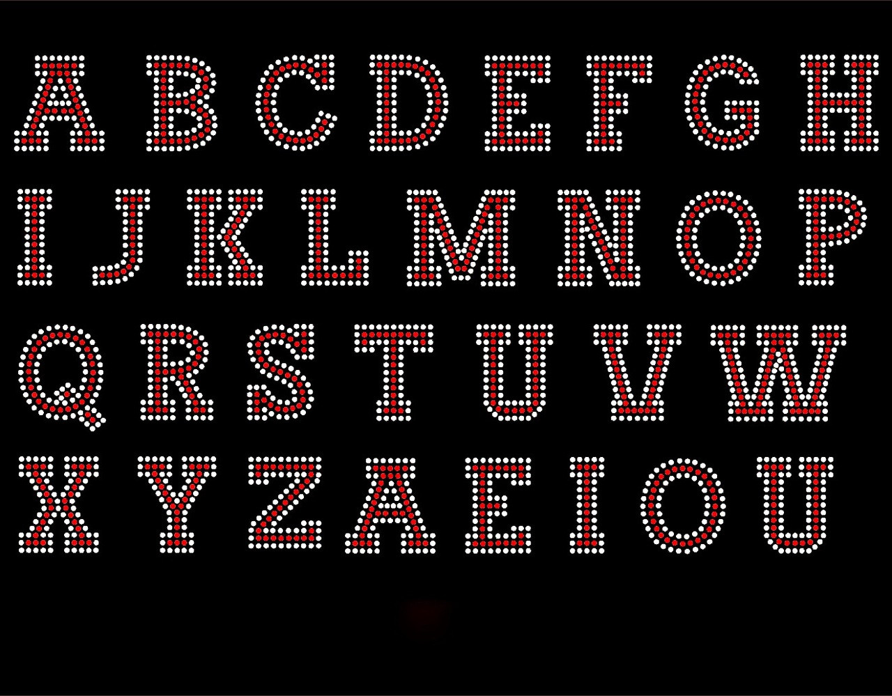 2 Quot Bold Letter Alphabet Any Color Clear Outline Total