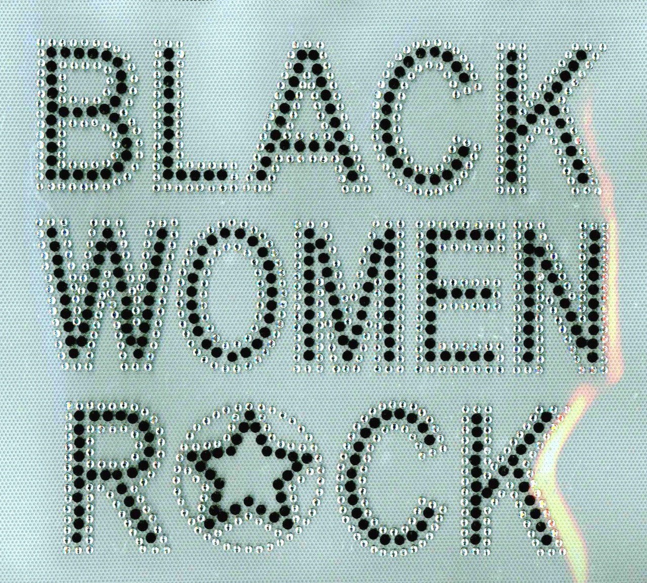 Black Women Rock Black Afro Rhinestone Transfer Texas