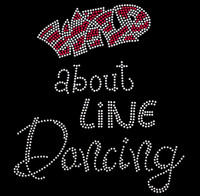 Wild about Line Dancing Rhinestone Transfer