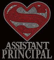 Super Assistant Principal School Rhinestone Transfer