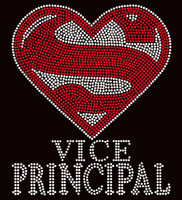 Super Vice Principal School Rhinestone Transfer