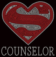 Super Counselor School Rhinestone Transfer