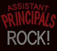 Assistant Principals Rock! School Rhinestone Transfer