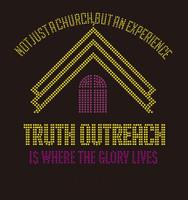 Truth Outreach Church Rhinestone transfer