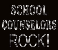 School Counselors Rock! School Rhinestone Transfer