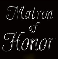 Matron Of Honor Rhinestone Transfer Iron on