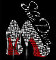 Shoe Diva Heels Stiletto RED Rhinestone Transfer