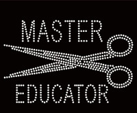 Master Educator Scissors Hair Rhinestone Transfer