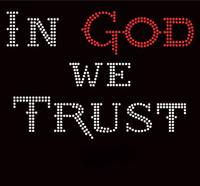 In God We Trust Religious Rhinestone Transfer