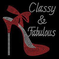 Classy & Fabulous Heel Stiletto Rhinestone Transfer