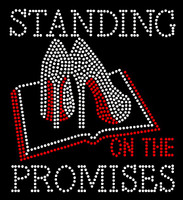 Standing on the Promises Bible Heels Stiletto Rhinestone Transfer