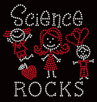 Science Rocks with kids (2 colors) School Rhinestone Transfer