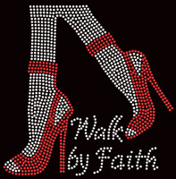 Walk by Faith Legs Heels Stiletto Rhinestone Transfer