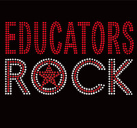EDUCATORS Rock School Rhinestone transfer