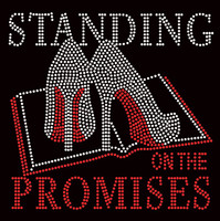 (Large) Standing on the Promises Bible Heels Stiletto Rhinestone Transfer