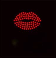 "(6 Qty) Lips 2"" red Custom Order Rhinestone transfer"
