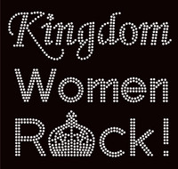 Kingdom Women Rock Religious Rhinestone Transfer