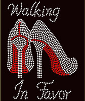 Walking in Favor new Heels Stiletto Religious Rhinestone Transfer