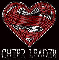 Super Cheer Leader Rhinestone Transfer Iron on