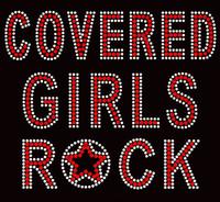 Covered Girls Rock Religious red Rhinestone Transfer