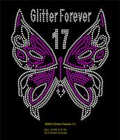 Glitter Forever 17 Butterfly - Custom Order Rhinestone transfer
