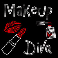 Makeup Diva (New Small) Rhinestone Transfer