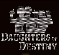 Daughters of Destiny 3 Girls James Bond Custom Order Rhinestone transfer