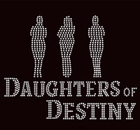 Daughters of Destiny 3 Girl Custom Order Rhinestone transfer