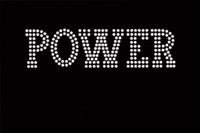 "POWER (Text) 5.6""(W) x 1.5""(H) Rhinestone Transfer"