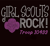Girls Scouts Rock Troop 10499 - Custom Order Rhinestone transfer