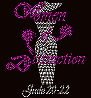 Women of Distinction Lady Rhinestone transfer