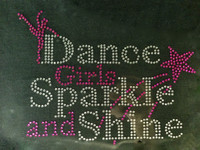 Dance Girl Sparkle and Shine Rhinestone Transfer Iron On