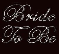 (Cursive) Bride To Be Rhinestone Transfer Iron on