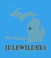 Mid-Michigan IDLEWILDERS (AB Clear/Black) Rhinestone Transfer Mushat