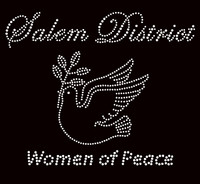 Salem District Women of Peace Bird - Custom Order Rhinestone transfer