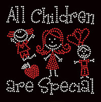 All Children are Special (2 colors) Kids School Rhinestone Transfer