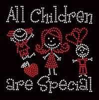 All Children are Special (2 colors) Kids School Rhinestone Transfer