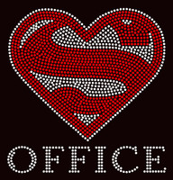 Super Office School Rhinestone Transfer