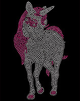 "Unicorn Horse (4.1""(W) x 7.4""(H) Rhinestone Transfer"