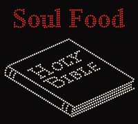 Soul Food Holy Bible Religious Rhinestone transfer