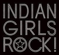 Indian Girls Rock Rhinestone transfer