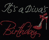 It's a Diva's Birthday (Red) Heel Stiletto Rhinestone Transfer