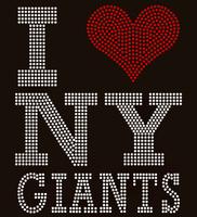 I Love NY Giants - Custom Order Super Bowl Rhinestone transfer