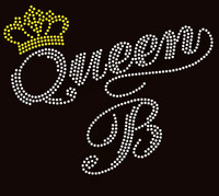 Queen B Crown Rhinestone Transfer Iron on